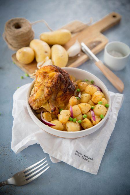 Poulet roti pommes de terre-6