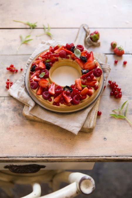 Tarte couronne aux fruits rouges